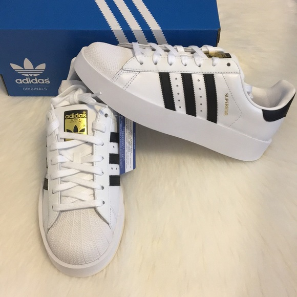 NWT Adidas Superstar Bold Platform Shoes